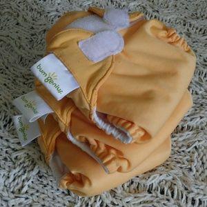 Bumgenius Set of 3 Orange Newborn Cloth Diapers